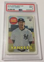 2018 Topps Heritage High Number SP #603 Gleyber Torres Rookie RC PSA 9 MINT 🔥🔥
