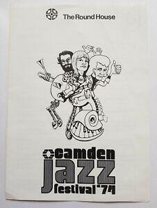 Rare vintage 1974 Camden Jazz Festival leaflet BOBBY HACKETT at The Round House