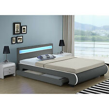Polsterbett Bilbao dunkelgrau mit Bettkasten 180x200 cm und Kaltschaummatratze