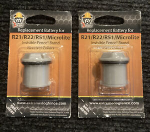 Extreme Dog Fence Brand Compatible Battery for R21/R22/R51/Microlite (Qty 2)