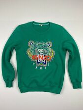 Kenzo Paris Tiger Sweatshirt Sz L Green Designer Sweaters