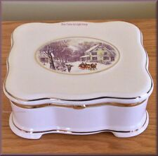 Sleigh Porcelain Synphonium Music Box by Mr. Christmas Gold Label Free U.S. Ship