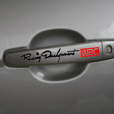 2 Black Toyota WRC Race Development Logo Decal Badge Sticker Adhesive Yaris