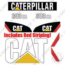 Caterpillar 303 Cromo Kit Decalcomanie Mini Escavatore Equipaggiamento