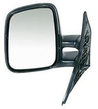 VW T4 Transporter 1990-2003 Door Wing Mirror Manual Black N/S Passenger Left