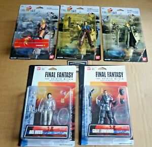 MULTI-LIST OF BAN DAI MIXED SERIES FINAL FANTASY ACTION FIGURES NEW/UNOPENED