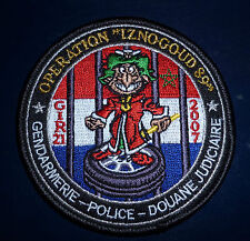 "FRENCH POLICE  ""OPERATION IZNOGOUD "" PATCH"