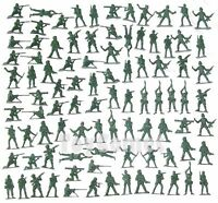 100 pcs Military Plastic Toy Soldiers Army Men Green 5cm Figures 12 Poses