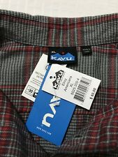 NWT Kavu UPF 30 Elroy Flannel Button Front Shirt Men's Size XL Red Gray Plaid