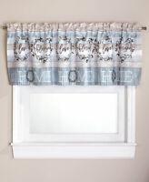 Window Valance Curtain Cotton Boll Country Farmhouse Bathroom Decor - 1 Pc.