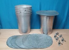 6 MAPLE SYRUP Aluminum Sap Buckets +Lids GRIMM COVERS + TAPS Spiles Spouts W@W