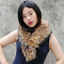 Detachable Natural Color Raccoon Fur Scarf