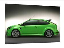 Ford Focus RS - 30x20 pulgadas lienzo enmarcado cuadro impresión