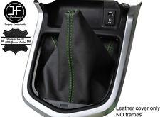 Verde Cuero Cosido Manual Gear gaiter se ajusta Navara NP300 D23 2015-2017