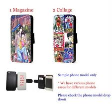 City Hunter Manga Comic leather wallet phone case for iPhone Samsung