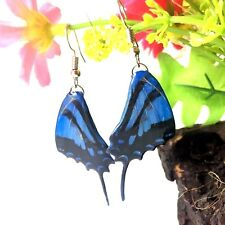 Butterfly Wing Real Earrings Resin Jewelry Handmade Drop Dangle Gift