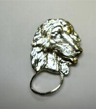 Afghan Dog Head Silver Spec Pin Detti Originals