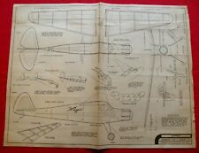 Vintage Whippet Toy Model Airplane Drawing Diagram Instruction Chart Large