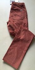 New $650 Loro Piana Mens Velvet Cashmere Cotton Pants Size 30 US Burgundy Italy