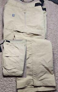 THE NORTH FACE-Khaki Poly, Mens Summer Convertible Cargo Shorts/Pants-(30)