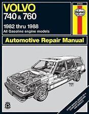 "HAYNES ""VOLVO 740 & 760 1982 THRU 1988 AUTOMOTIVE REPAIR MANUAL"" 1989 1ST PB VG"
