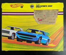 Vintage 1968 Mattel Hot Wheels 24 Car Collector Case Yellow