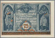 Notgeld - Stadt Bürgel - 75 Pfennig - 1921 - Motiv 2: Du nennst