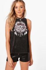 Camisas y tops de mujer de color principal negro talla L