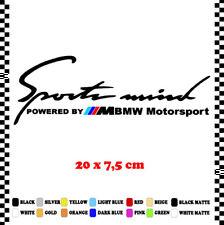 PEGATINA/STICKER/DECAL/AUFKLEBER/VINYL POWERED BY BMW SPORT MIND