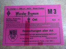WERDER BREMEN - BORUSSIA DORTMUND 15.9.1990 TICKET EINTRITTSKARTE