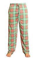 New Mens Pyjamas Lounge Bottoms Pants Nightwear Cotton Checked Tartan Trousers