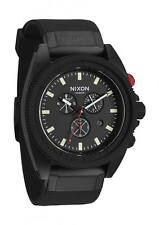 **NEW IN BOX** Nixon Rover Chrono All Black Red Wrist Watch A290-760