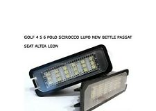 LUCI LED PLAFONIERA TARGA GOLF 4 5 6 7 LUPO NEW BEETLE POLO SCIROCCO  NO ERRORE