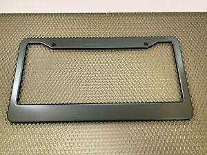 Grey-Gunmetal Anodized ALUMINUM Standard License Plate Tag Frame