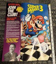 """Super Mario Bros. 3 Nintendo Power Club 15"""" Promo Poster GP-NES-USA-2"""
