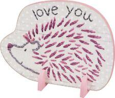 Porcupine Loves You Stand Up Wood Sign~Plaque/Basket/Baby Room Decor/Girl/Pink