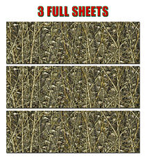 "3 FISHING LURE CAMOUFLAGE VINYL DECALS 48"" x 15"" TRUCK WRAP TREE PRINT DUCK CAMO"