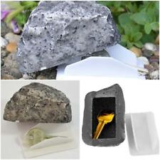 Fake Rock Stone Hide A Key Box Outdoor Hidden Safe Stash Storage Case Box JA