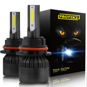 Pair 9006 CREE LED 1500W 225000LM Headlight Conversion Kit Beam Bulbs 6000K 2pcs
