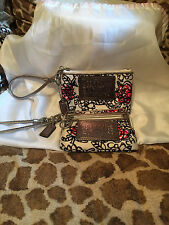Coach Poppy Floral Graffiti Groovy Silver Black White Wristlets Total Lot of 2