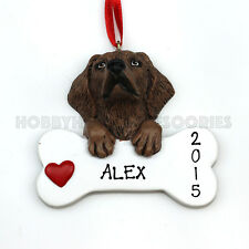 Chocolate Labrador Dog Pet Personalized Christmas Tree Ornament Rudolph & Me