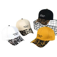 Leopard grain embroidery Letter Baseball Cap hip-hop Adjustable Snapback Hats '