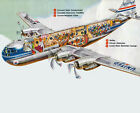 United Airlines Boeing 377 Stratocruiser 85X11 Print