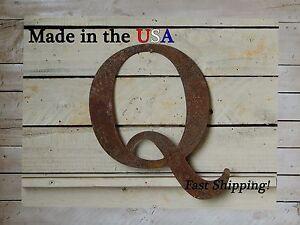 """14"""" Metal Letter, -Indoor/Outdoor, Business Sign, Wedding Decor, Nursery, F1001"""