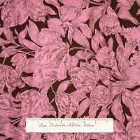 Calico Fabric - Tulip Nouveau Pink & Brown Floral - Northcott 1.55Yd