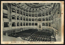 cartolina MACERATA teatro comunale l.rossi