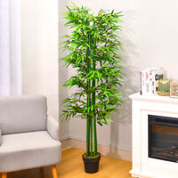 Large Artificial Bamboo Plant 6ft Outdoor Indoor Potted Tree Home Office Green