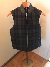 $398 Jack Spade Dalton Reversible Warm Down Vest Black / Plaid Mens Sz M  MINT!!