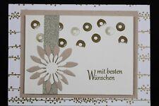 Glückwunschkarte zum Geburtstag, Verlobung, Hochzeit - Handarbeit   500-36