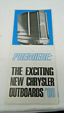 Chrysler Outboard Motors 1966 Brochure